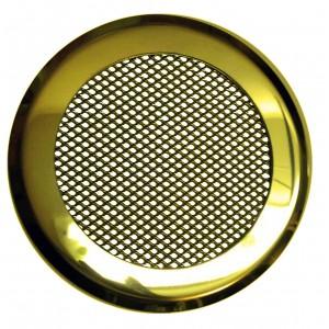 КП-120 золото Решетка на магнитах. Декоративная решетка ф120