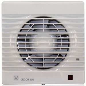 Бытовой вентилятор Decor 200 CH с датчиком влажности