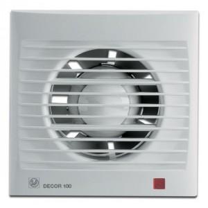 Бытовой вентилятор Decor 100 CH с датчиком влажности