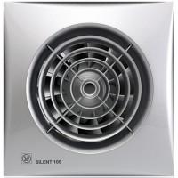 Бытовой вентилятор Silent 100 CHZ Silver с датчиком влажности