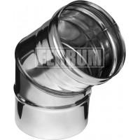 Отвод 45гр Ferrum ф100 AISI 430 - 0,5мм 2 секции