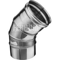 Отвод 45гр Ferrum ф100 AISI 430 - 0,5мм 3 секции