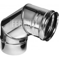 Отвод 90гр Ferrum ф100 AISI 430 - 0,5мм 3 секции
