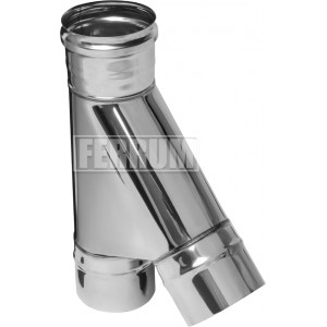 Тройник-К 135гр Ferrum ф110 AISI 430 - 0,8мм