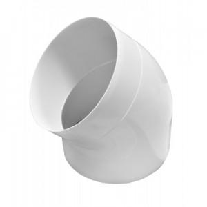 12,5ККП45 Колено круглое пластиковое Ф125 45 градусов