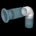 12,5ККП Колено круглое пластиковое Ф125 90 градусов