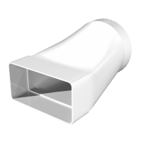 612СП10КП Соединитель прямоугольного канала с круглым  60х120/Ф100